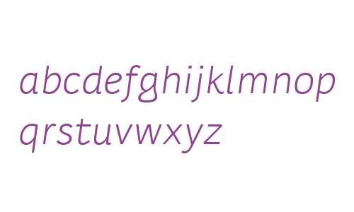Karlo Sans W00 Regular Italic