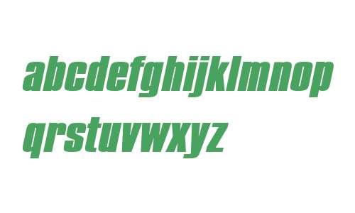 Commador Extended Heavy Italic