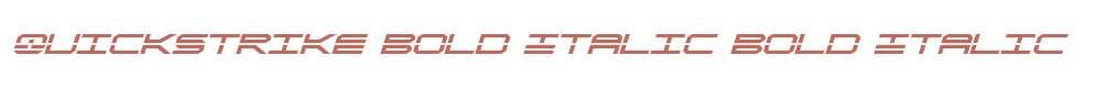 QuickStrike Bold Italic