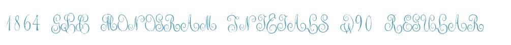 1864 GLC Monogram Initials W90