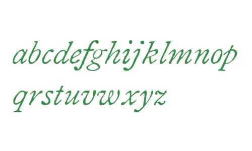 1822 GLC Caslon W01 Italic