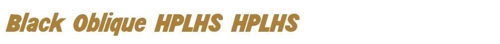 Black Oblique HPLHS