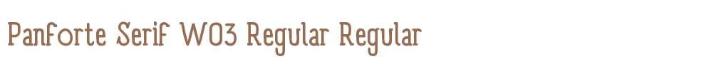 Panforte Serif W03 Regular