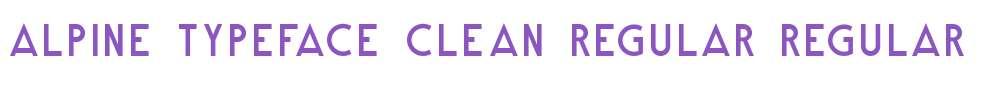 Alpine Typeface Clean Regular