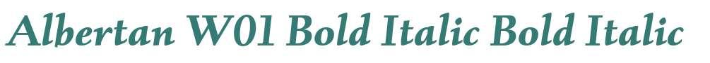 Albertan W01 Bold Italic