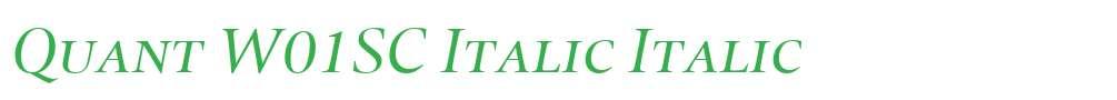 Quant W01SC Italic