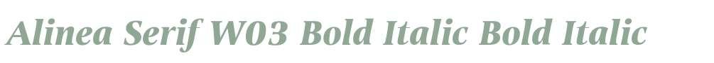 Alinea Serif W03 Bold Italic