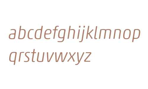 Akko Rounded W04 Light Italic