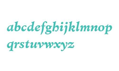 Minister W03 Bold Italic