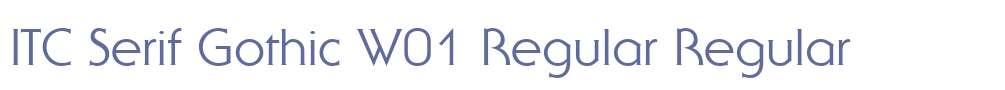 ITC Serif Gothic W01 Regular