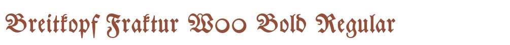Breitkopf Fraktur W00 Bold