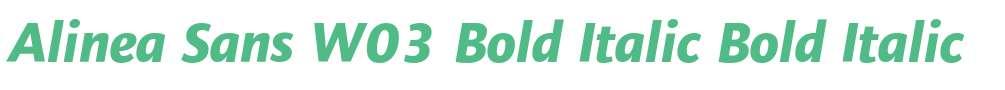 Alinea Sans W03 Bold Italic