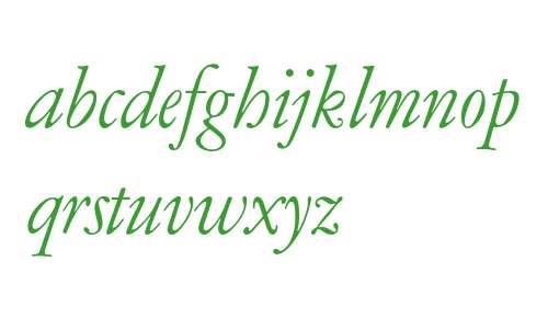 Garamont AMSTERDAM Expert Italic OsF