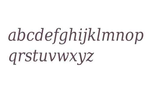 DejaVu Serif Condensed Italic V2