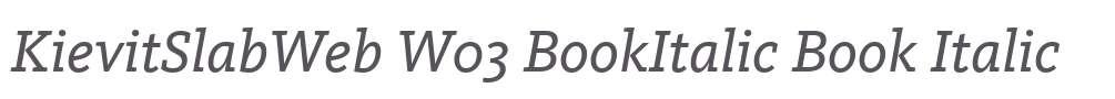 KievitSlabWeb W03 BookItalic