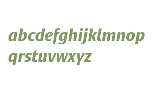 Satero Sans LT W04 Bold Italic
