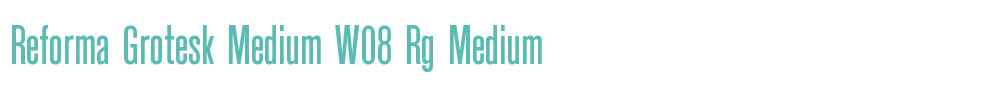 Reforma Grotesk Medium W08 Rg
