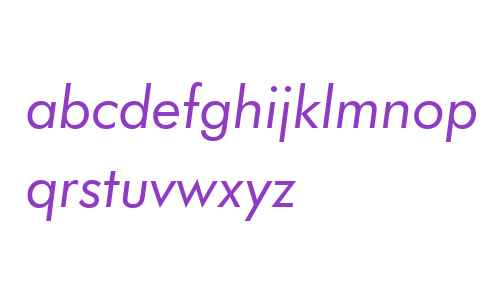 FuturaBT W02 Book Italic
