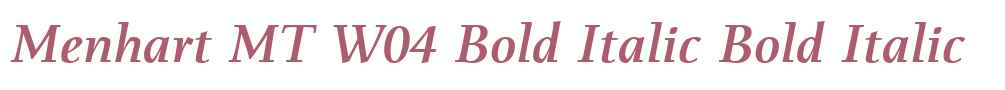 Menhart MT W04 Bold Italic