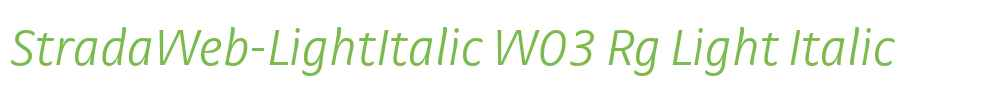 StradaWeb-LightItalic W03 Rg