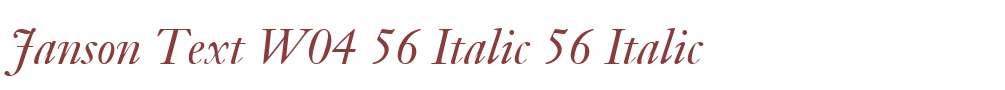Janson Text W04 56 Italic