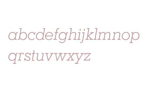 Geometric Slabserif 703 Light Italic