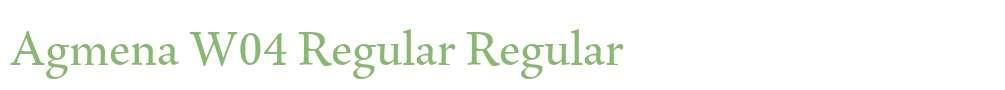 Agmena W04 Regular