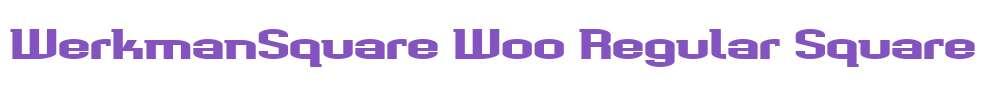 WerkmanSquare W00 Regular