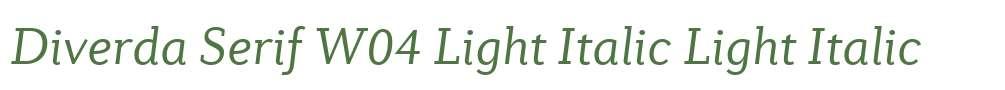 Diverda Serif W04 Light Italic