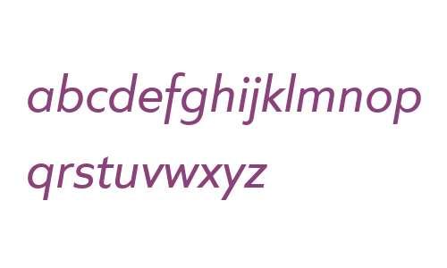Quiet Sans W04 Italic