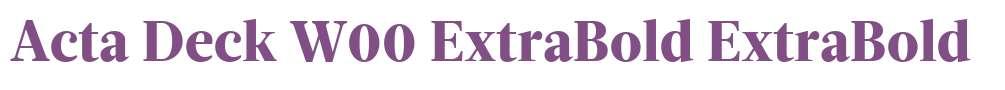 Acta Deck W00 ExtraBold