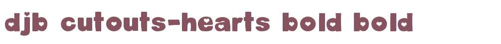 DJB Cutouts-Hearts Bold