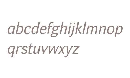 Deca Sans Italic W08 Regular