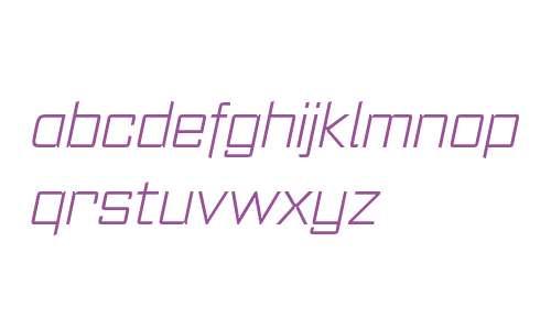 Register W00 Extra Light Italic