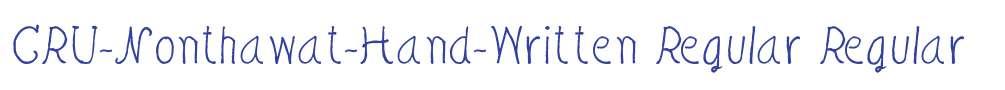 CRU-Nonthawat-Hand-Written Regular