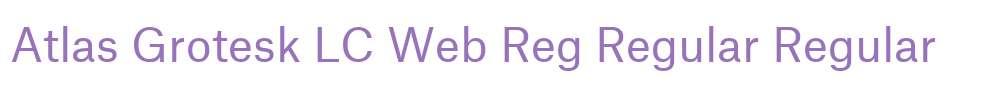 Atlas Grotesk LC Web Reg Regular