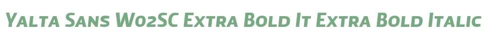 Yalta Sans W02SC Extra Bold It
