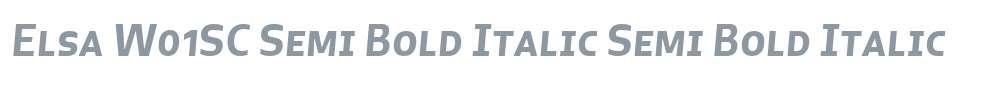 Elsa W01SC Semi Bold Italic