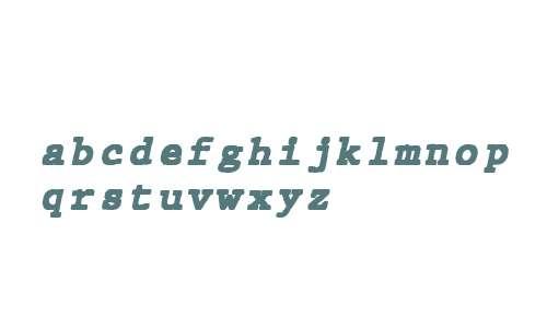 JMH Typewriter mono Black Italic
