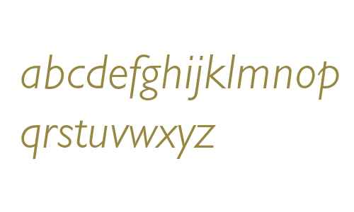 Gill Sans* MONOTYPE Light Italic
