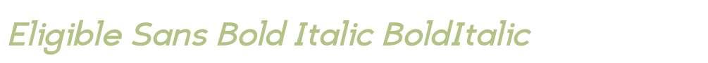 Eligible Sans Bold Italic