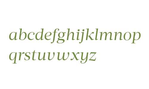 Acta Deck W00 Book Italic