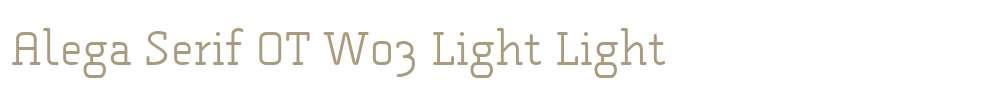 Alega Serif OT W03 Light