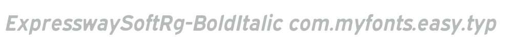 ExpresswaySoftRg-BoldItalic