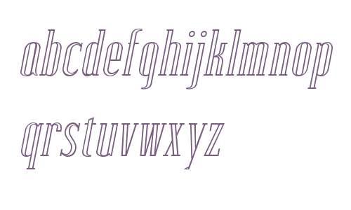 Lexave W01 Outline Italic