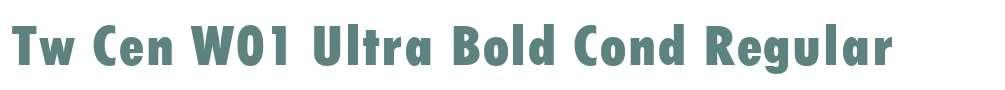 Tw Cen W01 Ultra Bold Cond