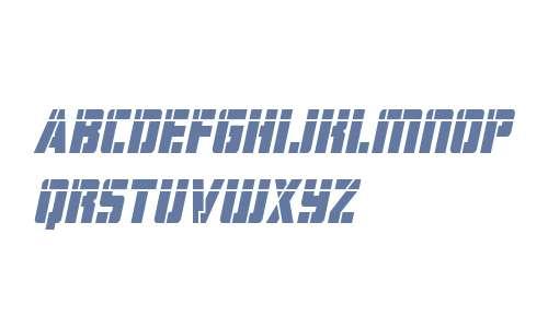 Hard Science Laser Italic