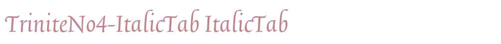TriniteNo4-ItalicTab
