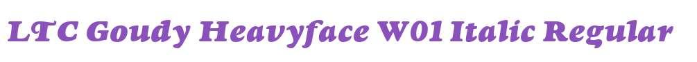 LTC Goudy Heavyface W01 Italic