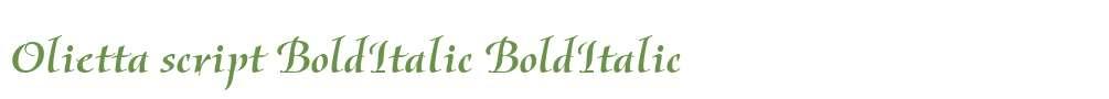 Olietta script BoldItalic